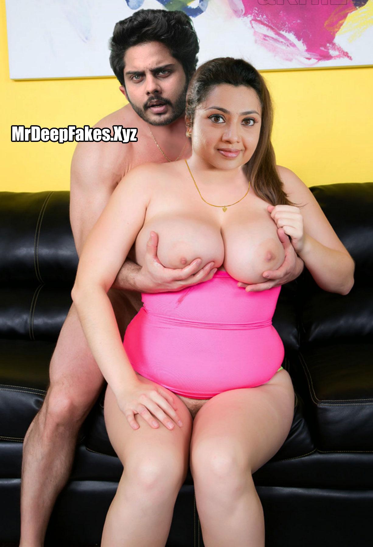 Meena big boobs pressed from back Drishyam Porn parody