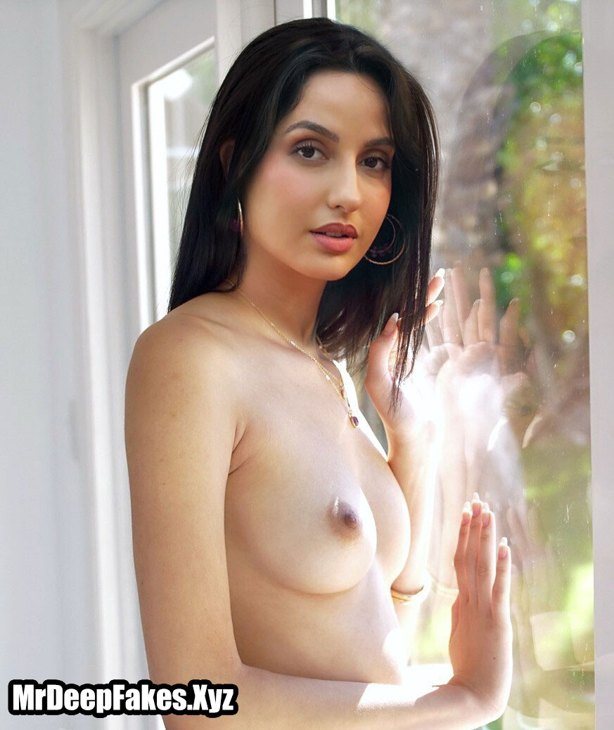 Naked Nora Fatehi nipple without bra nude small boobs fakes