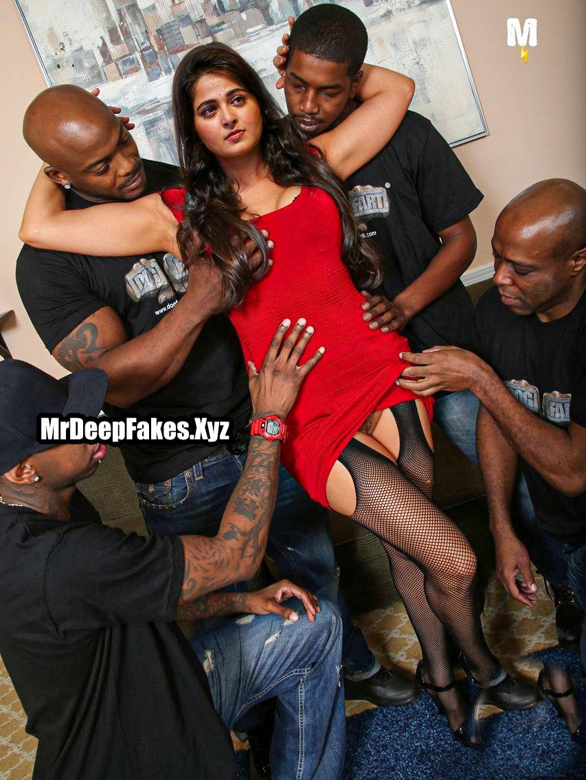 Actress Anushka Shetty gang blacked sexy bitch private group sex