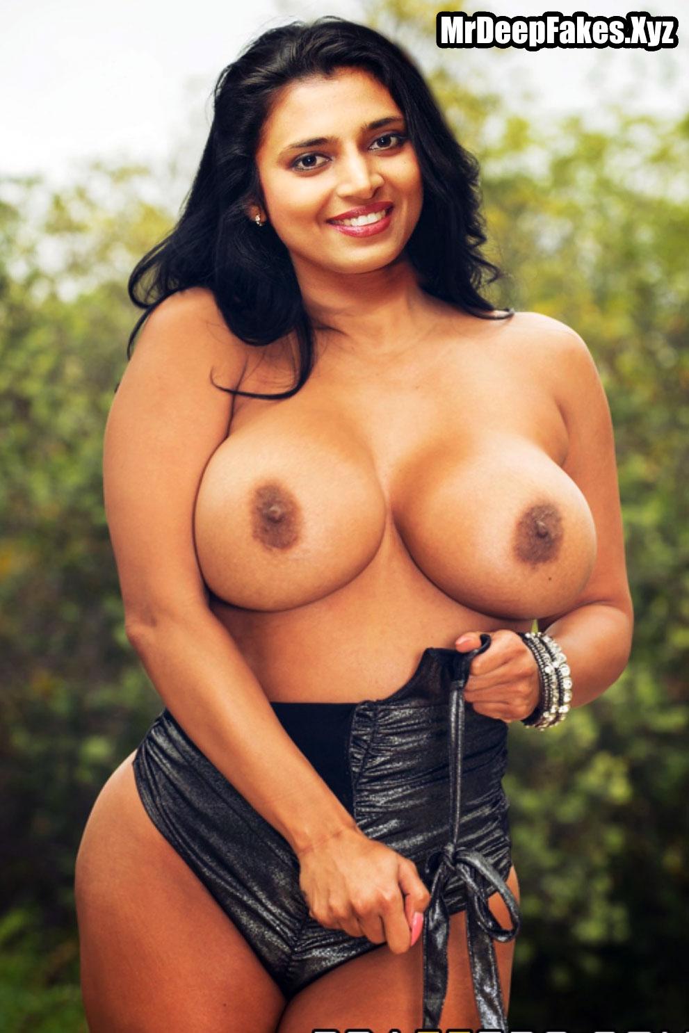 Actress Kasthuri big boobs milk tank black nipple image