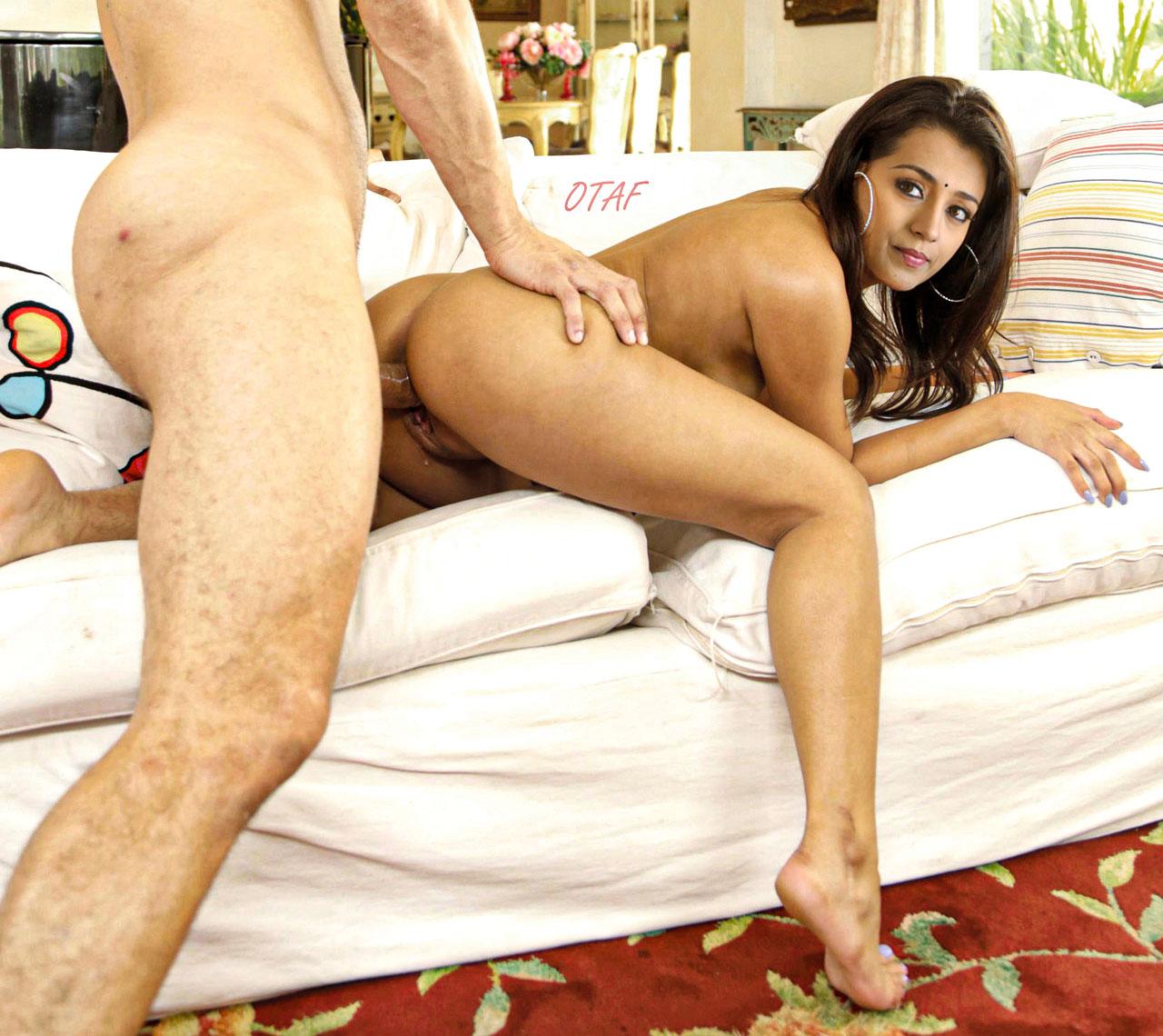 Hot Trisha doggy style ass fucking casting sex image