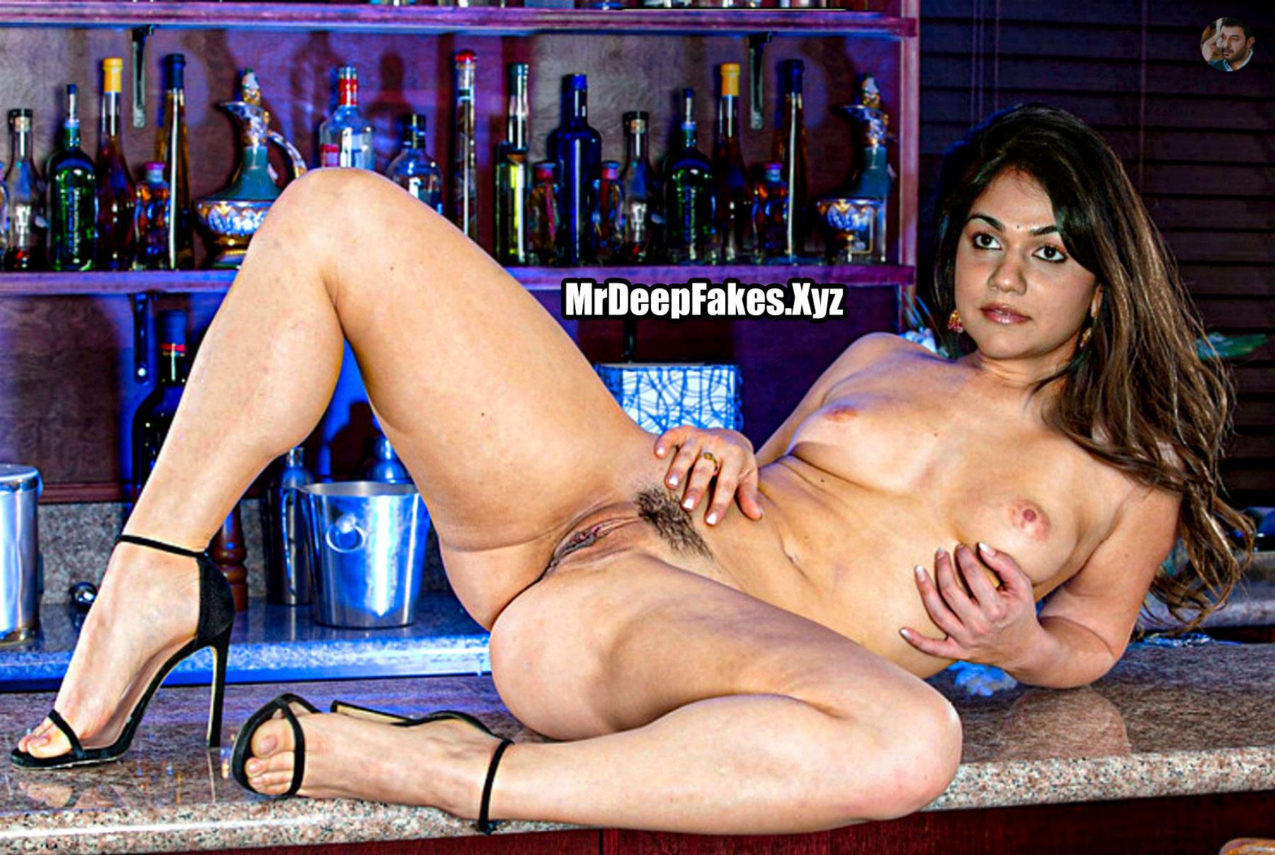 Naked Allu Arjun wife Sneha Reddy hairy pussy sexy body fake pic