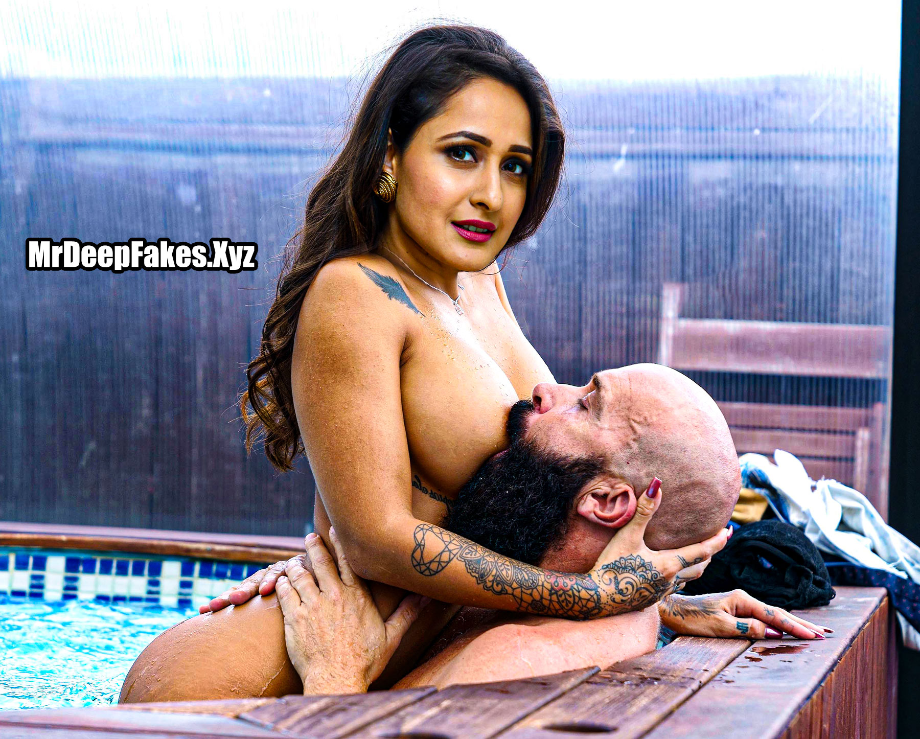Pragya Jaiswal nipple sucking swimming pool sex fakes