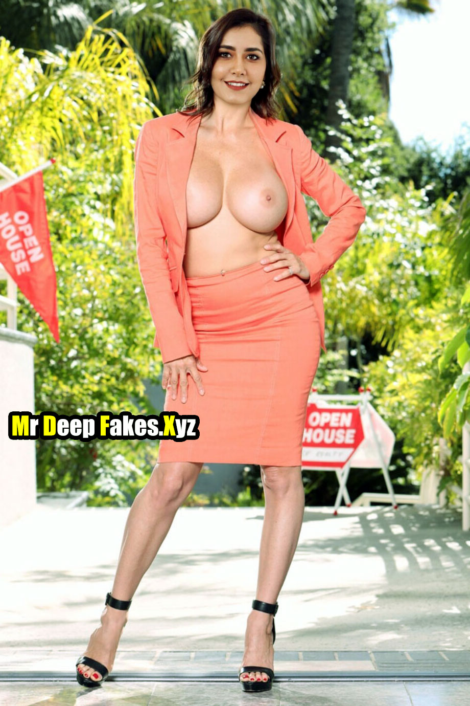Raashi Khanna sexy white boobs nude without bra wardrobe malfunction