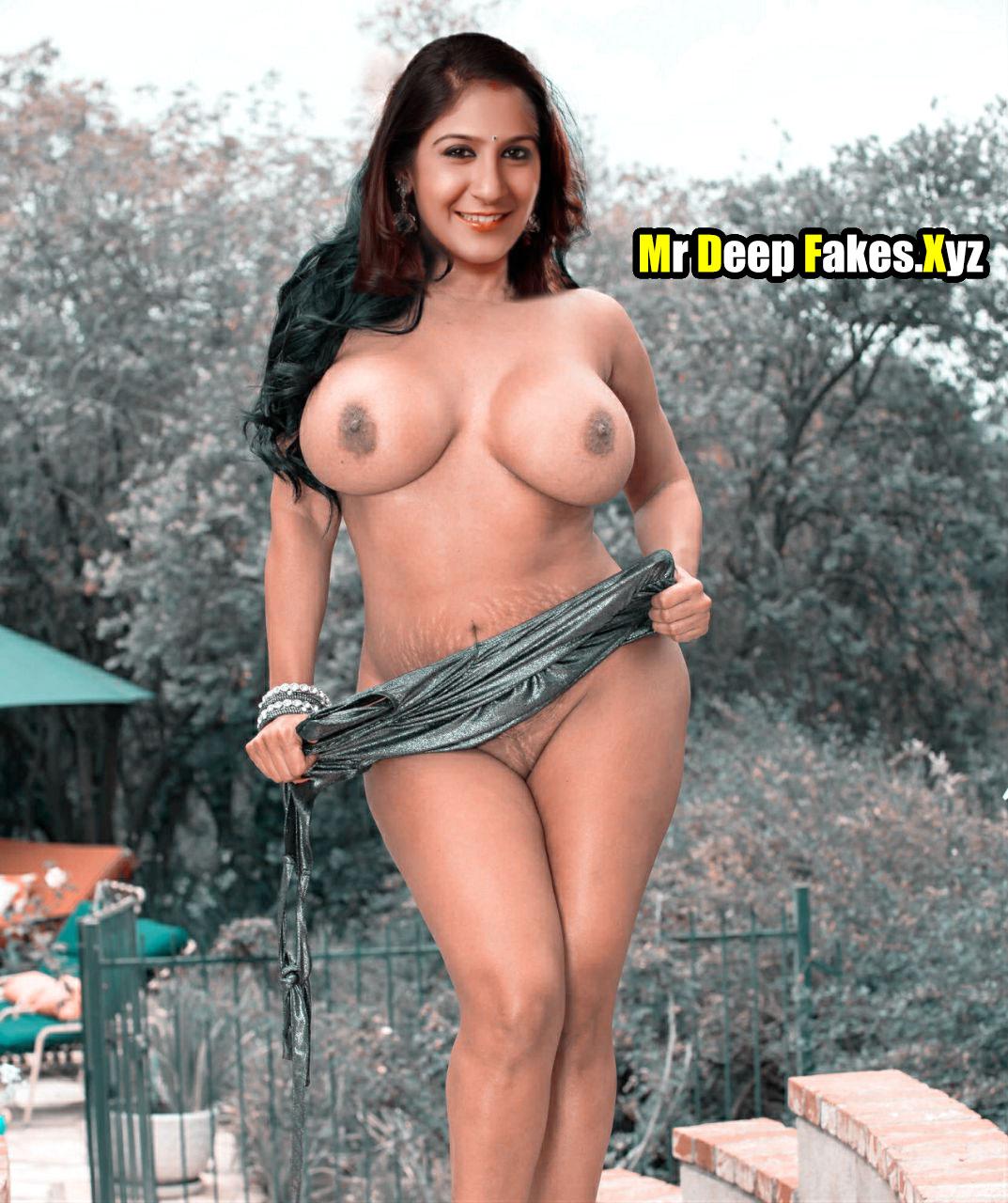 Shweta Mohan big boobs singer topless outdoor photoshoot