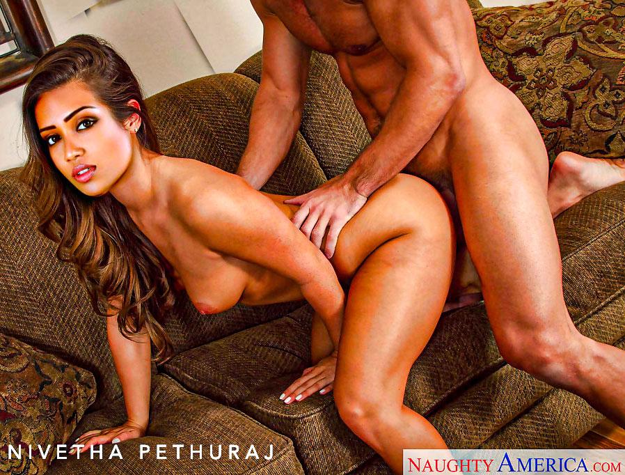 Slutty Nivetha Pethuraj  naked doggy style sex fucked from back