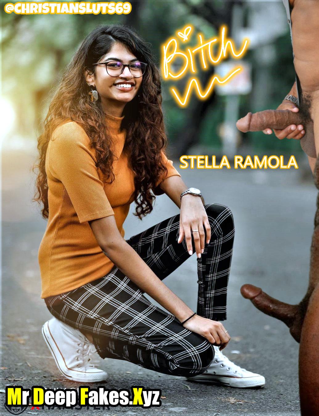 Stella Ramola nude cock public threesome pic