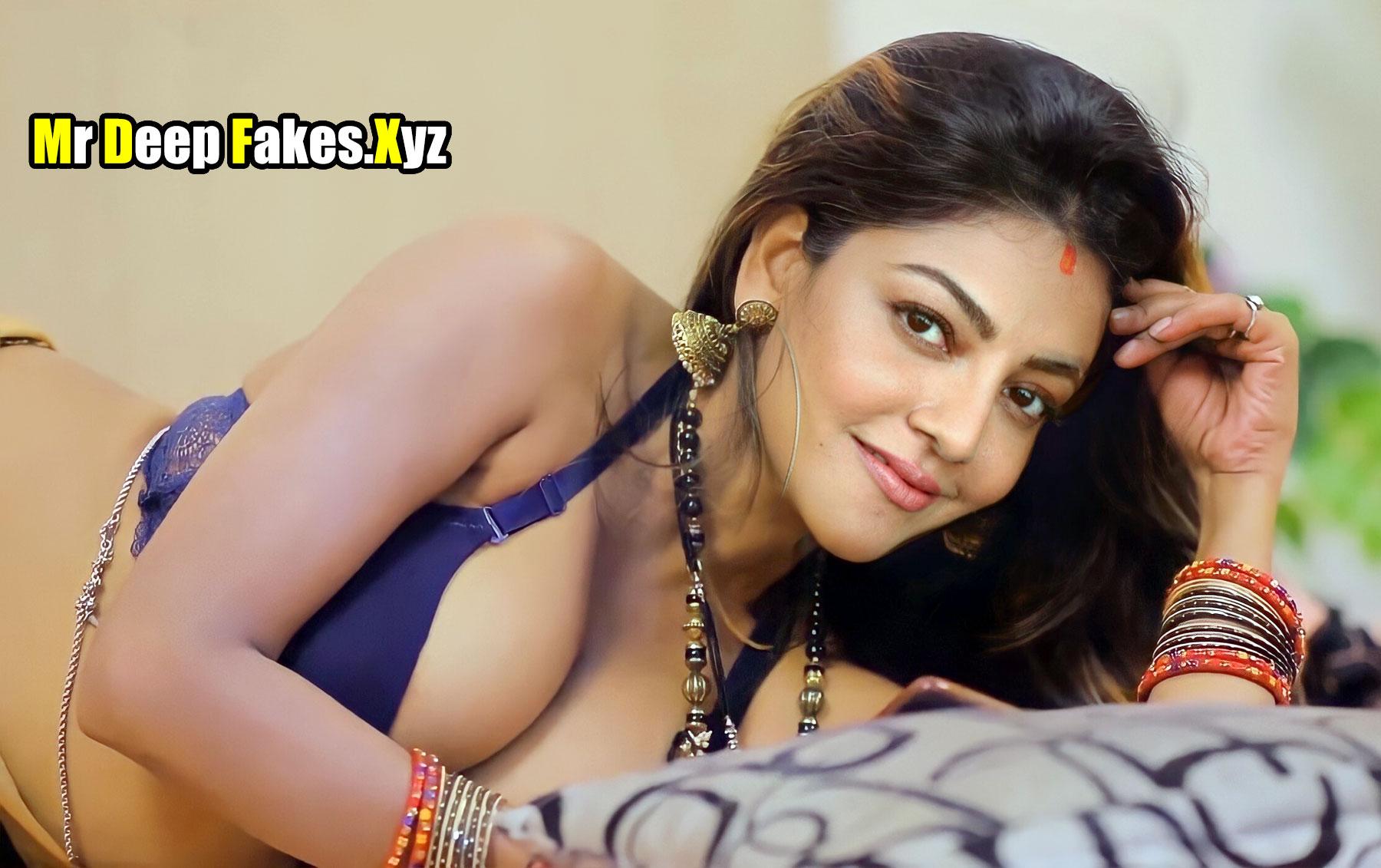 Kajal A Kitchlu first night sexy bra cleavage xxx image