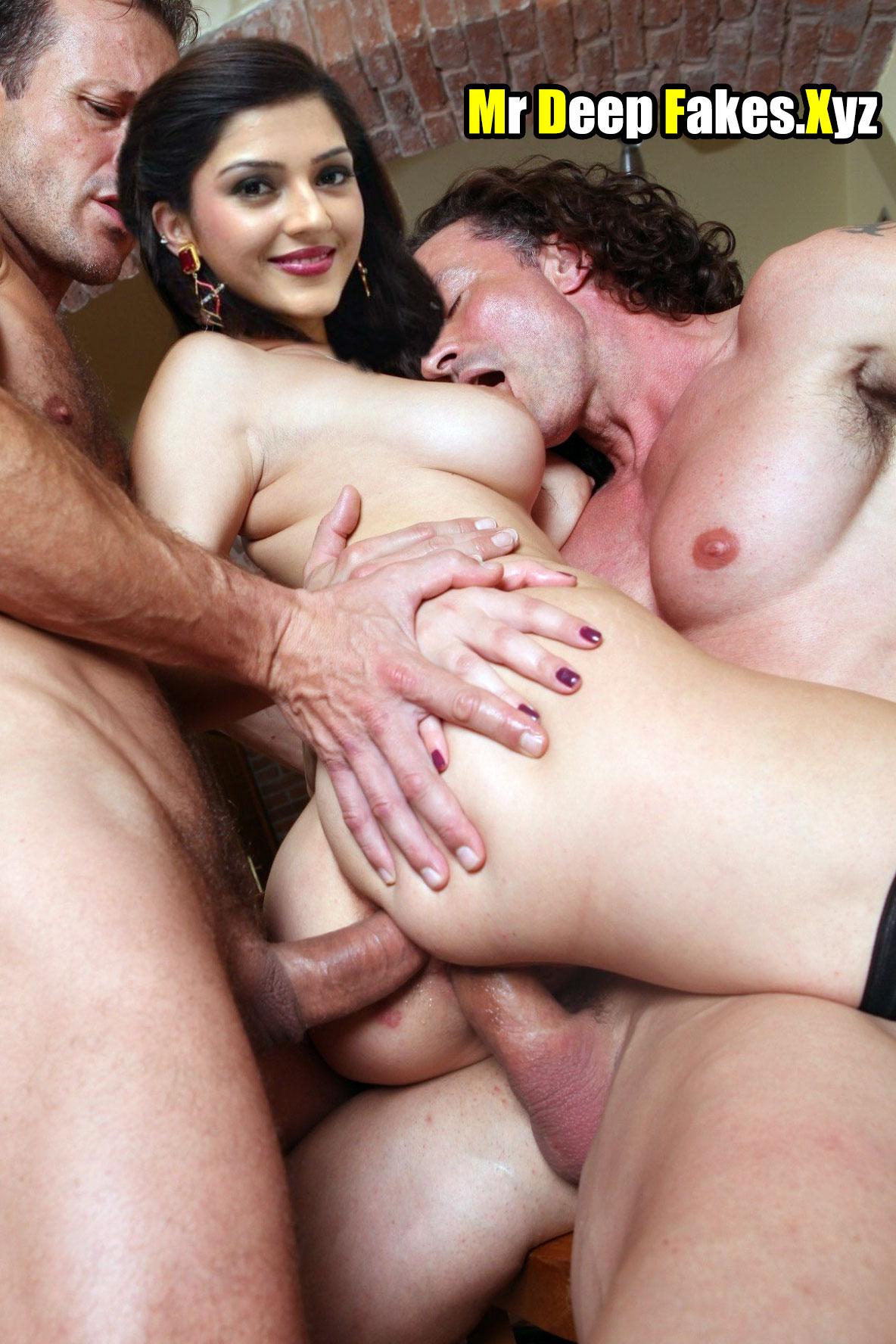 Mehrene Kaur Pirzada naked double penetration threesome standing sex deepfakes