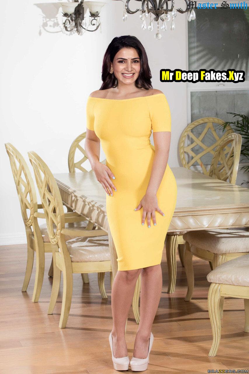 Samantha Akkineni sexy bitch yellow dress teasing xxx edit pic