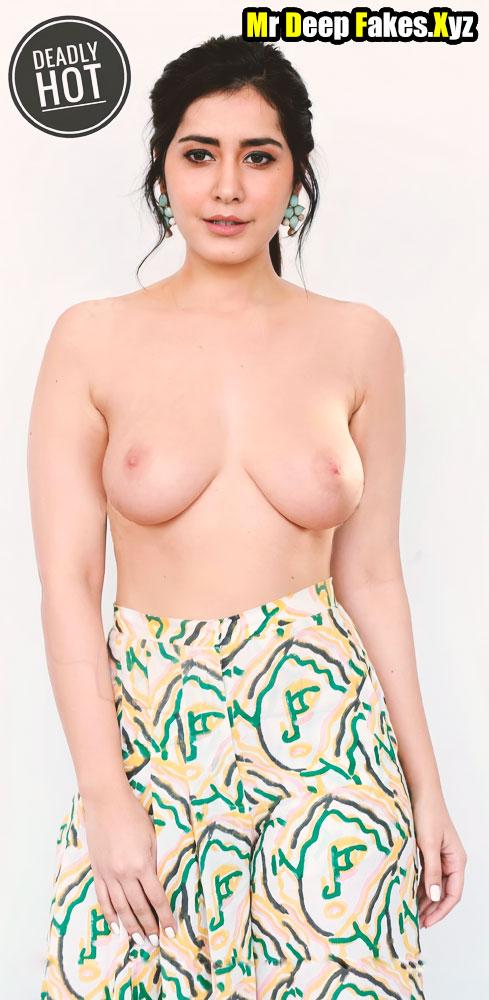 Topless actress Raashii khanna Nude Boobs Nipple no bra tweet